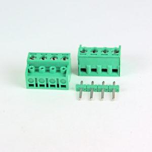 Plint för stoftlist 4 polig med hisslåsning för kabel